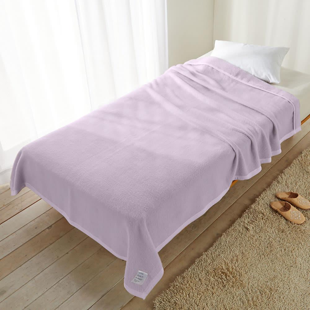 シルクのような光沢となめらかさ プレミアムベビーアルパカ毛布シリーズ お得な掛け毛布&敷き毛布セット (ウ)グレイッシュピンク