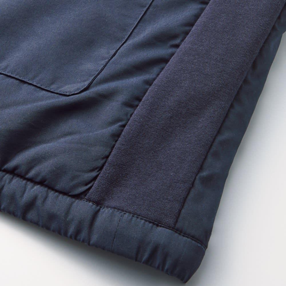 V-Air(R)使用あったか着る布団シリーズ 肩カバー 伸縮性の高いリブにより、動きやすく寝返りも打ちやすい。着ていて疲れにくい、ストレスフリーな着心地です。