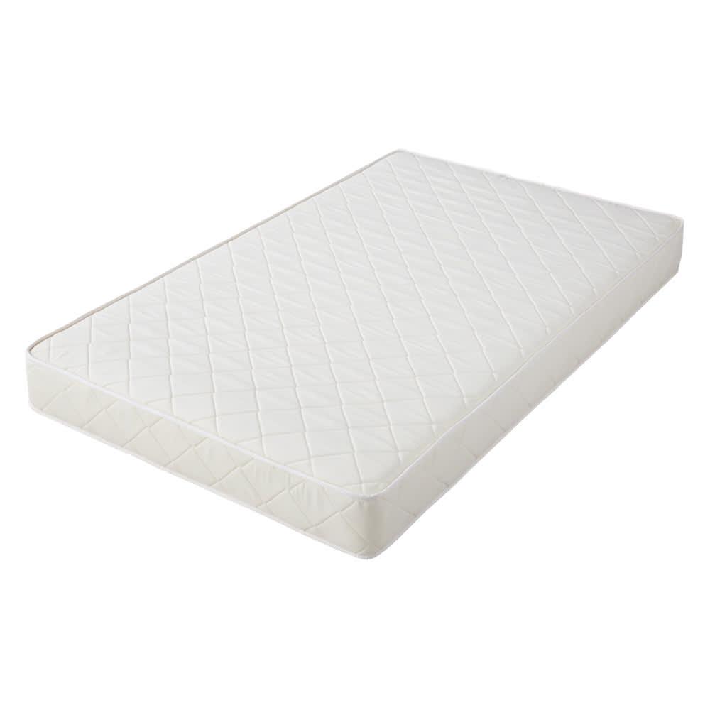 角あたりのない細すのこベッド 棚付き (国産ポケットコイルマットレス付き)