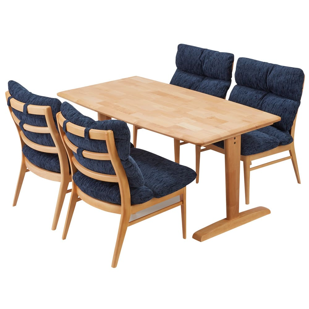 包まれる座り心地のリビングダイニング チェア・ベンチ チェア2脚組 コーディネート例 ※お届けはチェア同色2脚組です。
