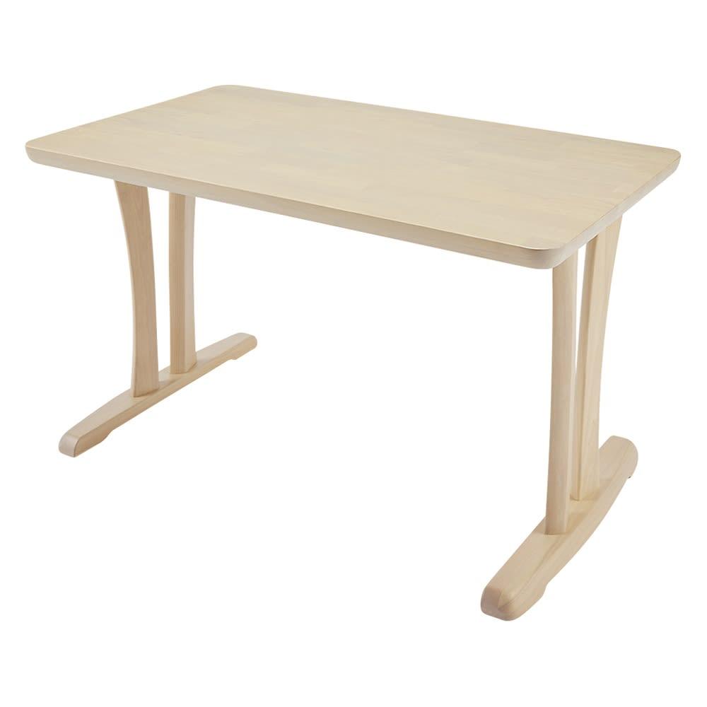 ハイバックモダンダイニング テーブル 2本脚 幅125奥行75cm 726827