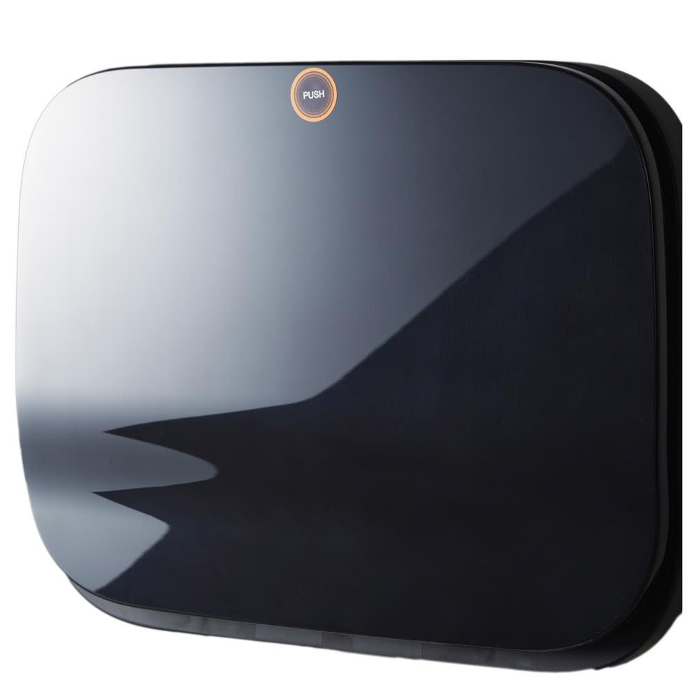 光沢がおしゃれなキャスター付きダストボックス SMOOTH (イ)ブラック シックなブラックでインテリアを引き締めます。