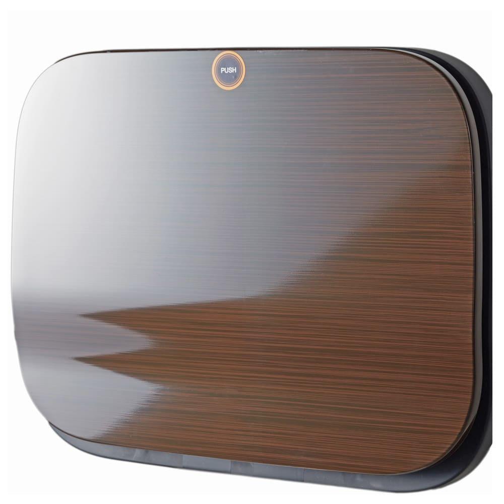 光沢がおしゃれなキャスター付きダストボックス SMOOTH (エ)ウッド 高級感のある木目調で、上品なキッチンに。