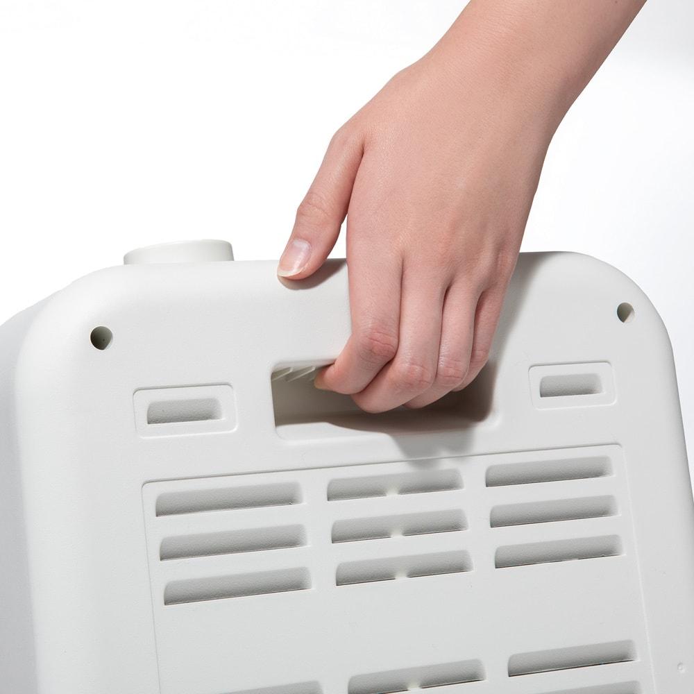 簡単操作スマートストーブ(コード収納BOX付き) 軽量でコンパクト。持ちやすい取っ手付き。