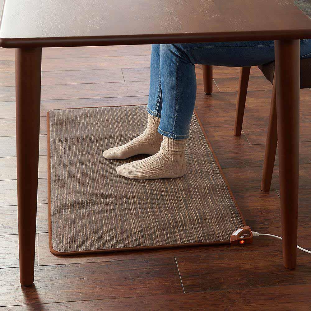 ホットテーブルマット 幅60cm カーペット柄 (イ)ブラウン ※写真は約60×110cmサイズです。