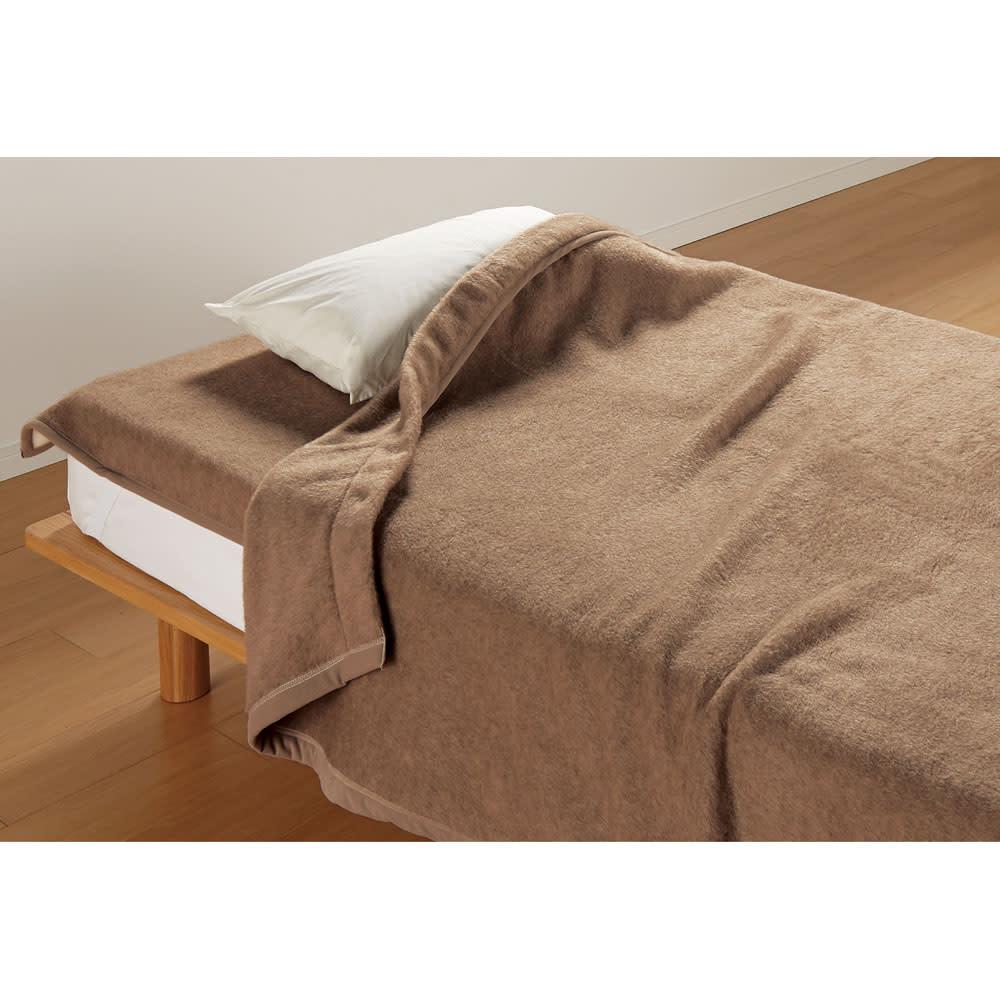 シングル (洗えるブラウンカシミヤ掛け毛布) 725401