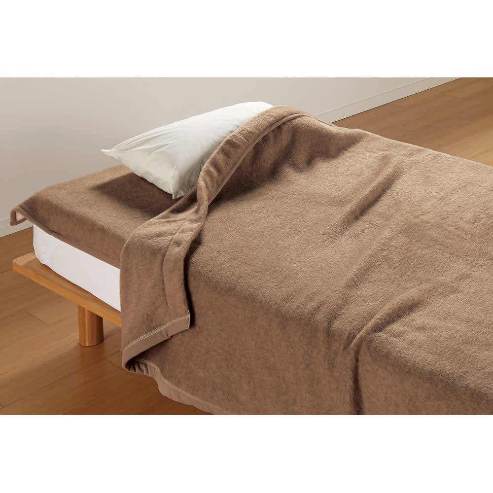 ダブル (洗えるブラウンカシミヤ掛け毛布) 725403