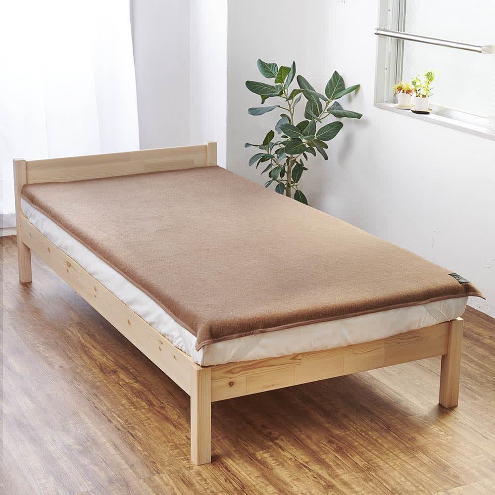 シングル(洗える100%ナチュラルキャメル敷き毛布) 725443