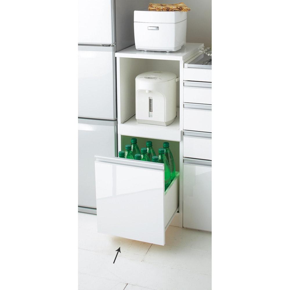 組立不要 幅と高さが選べる家電収納庫  ロータイプ 幅35cm・奥行45cm 727614