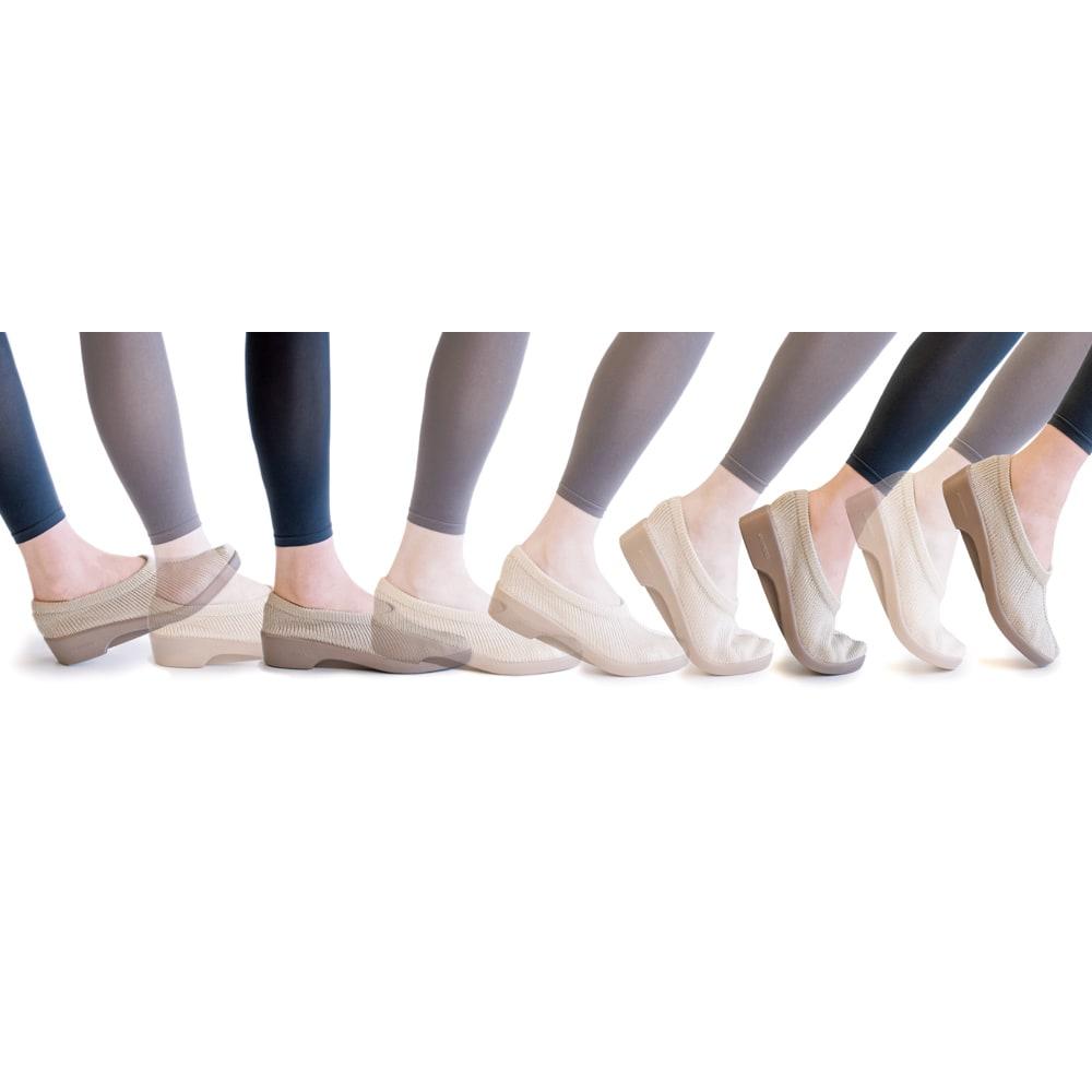 ARCOPEDICO/アルコペディコ スエード調ロングブーツ かかとからつま先まで正しい足運びができるので、軽快に歩けます。
