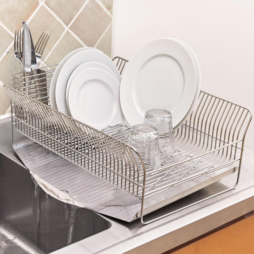 hanauta ハナウタ 皿を縦にも横にも置ける水切り (イ)たて置き