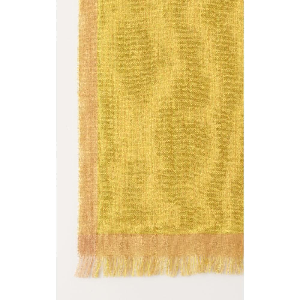 PAOLO MARIANI/パオロマリアーニ カシミヤ混 配色ストール(イタリア製) (イ)イエロー