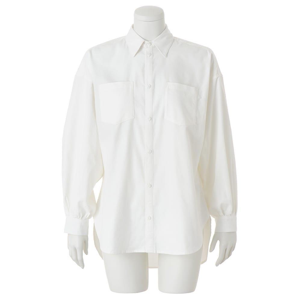 CIMARRON JEANS/シマロン ジーンズ 細コーデュロイ ビッグシャツ (イ)オフホワイト