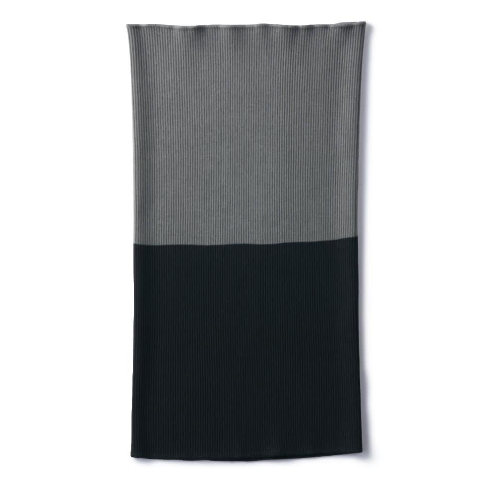 シルクホールガーメント(R) マルチウェイニット (ア)チャコールグレー×ブラック