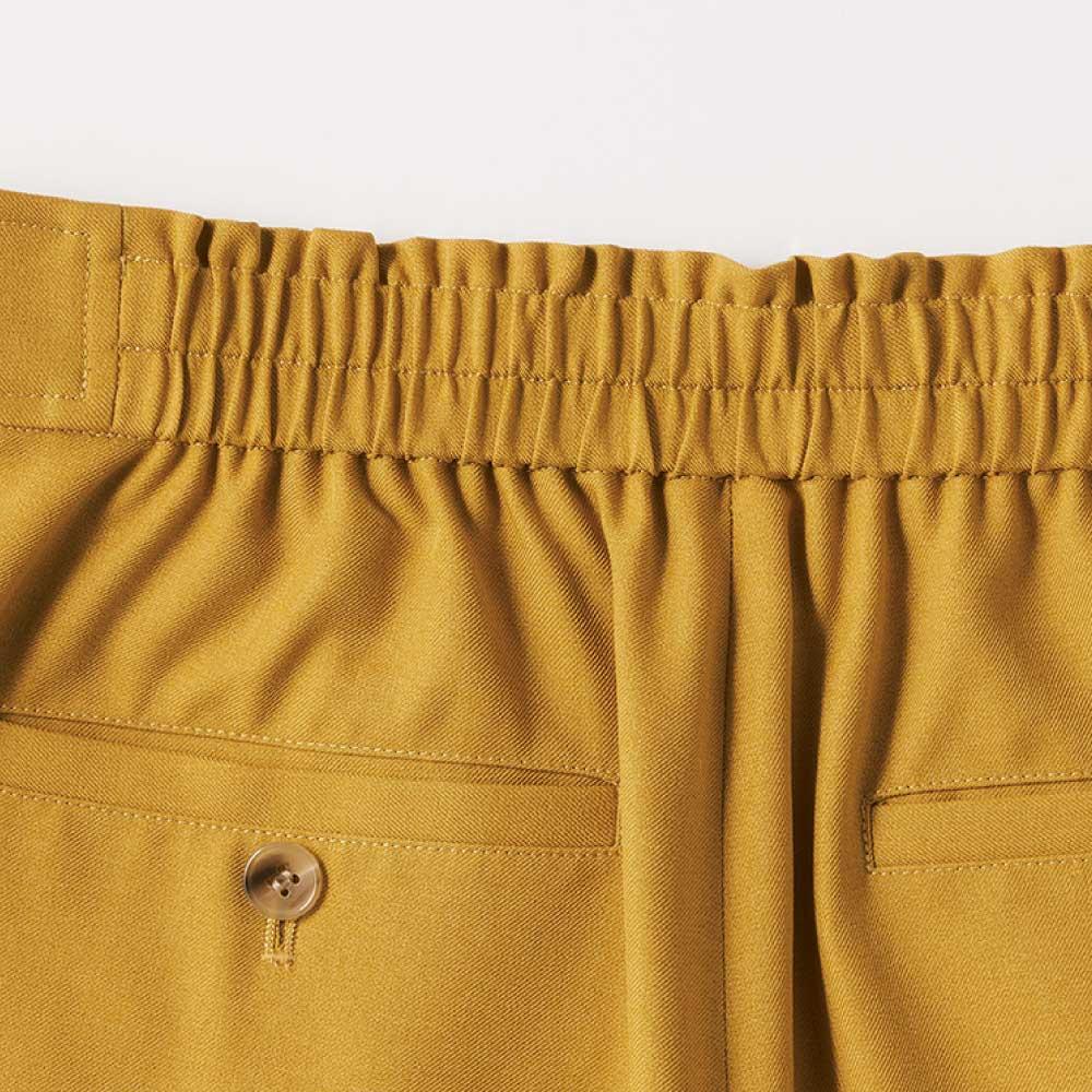 麻調ツイルシリーズ お得なセット(タック&シャーリング袖ブラウス+8分丈セミワイドパンツ) Back Style