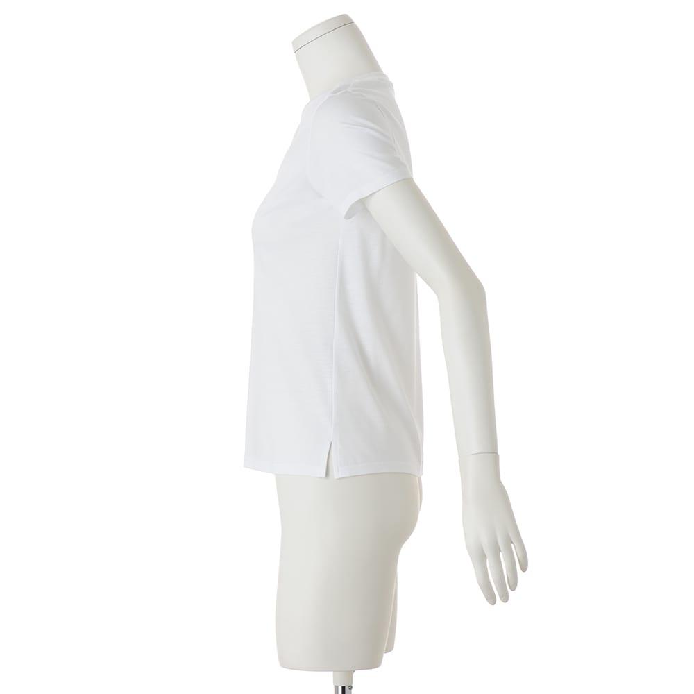 新美デコルテ(R) 合わせ細V開き半袖Tシャツ