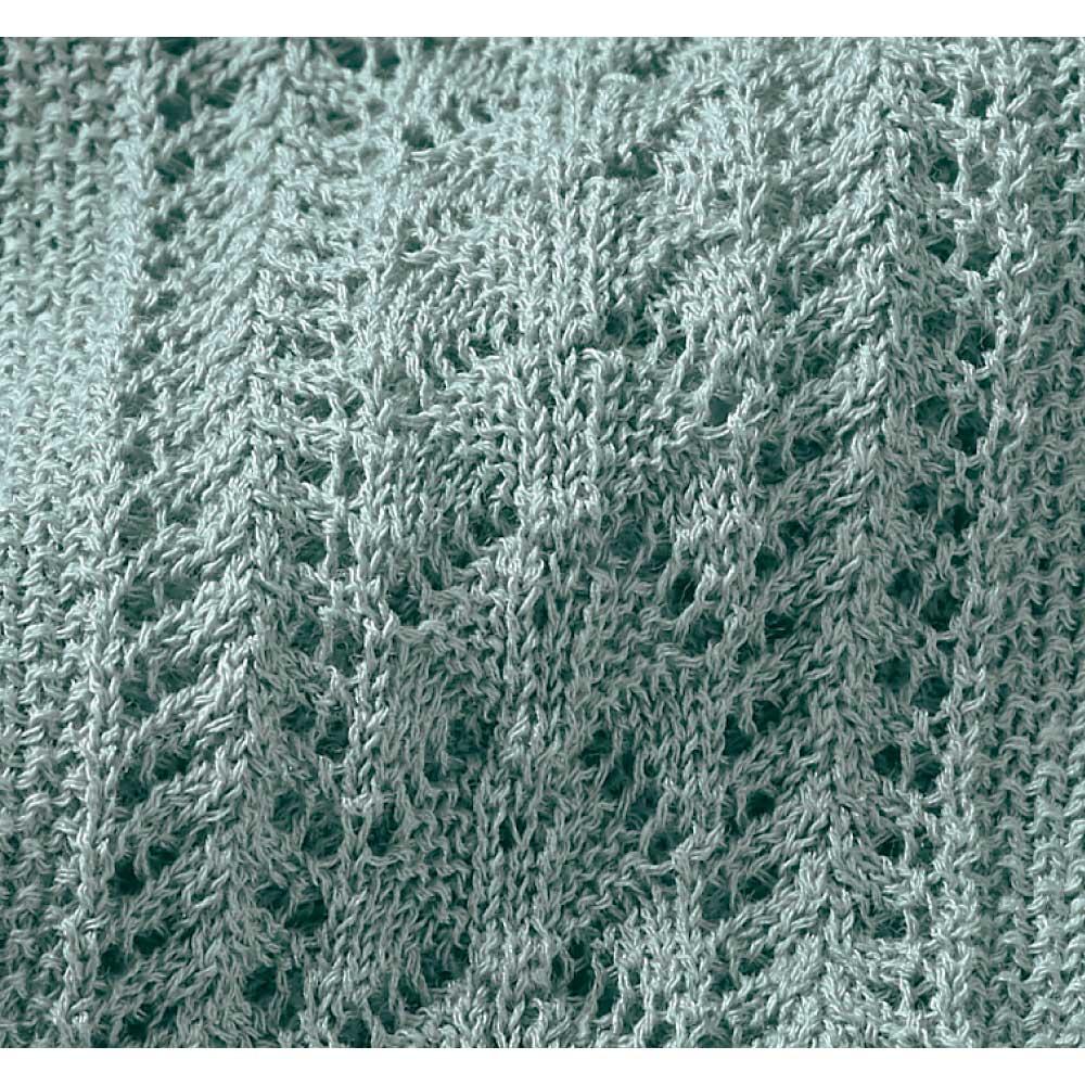 透かし柄編み カーディガン