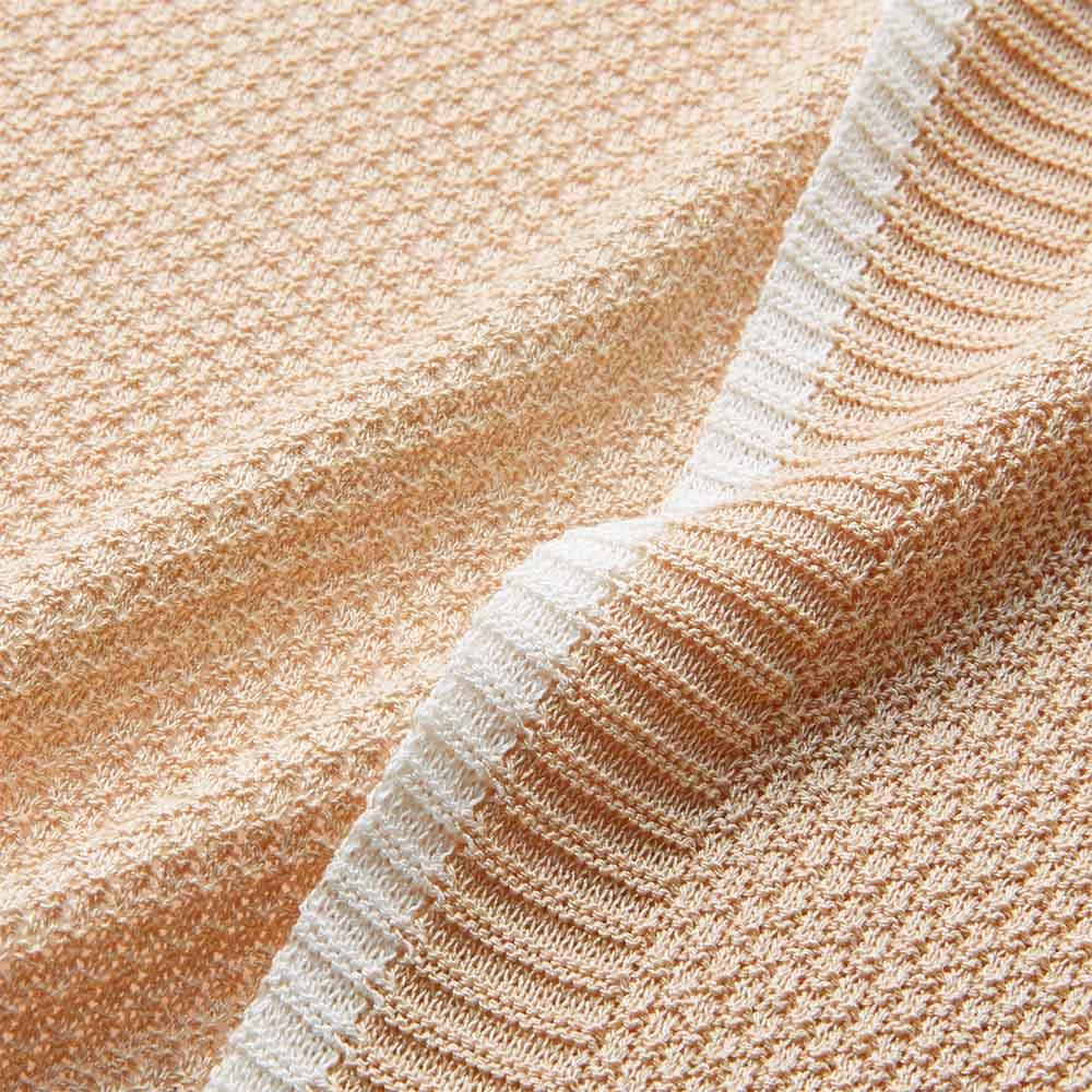 鹿の子編み強撚ニット ロングカーディガン