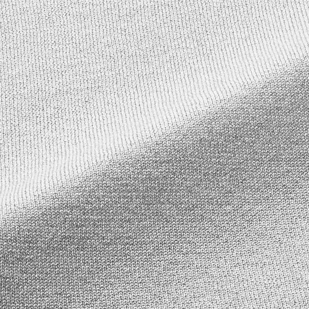 UVカット シルクラメ Vネックプルオーバー (イ)アイスグレー