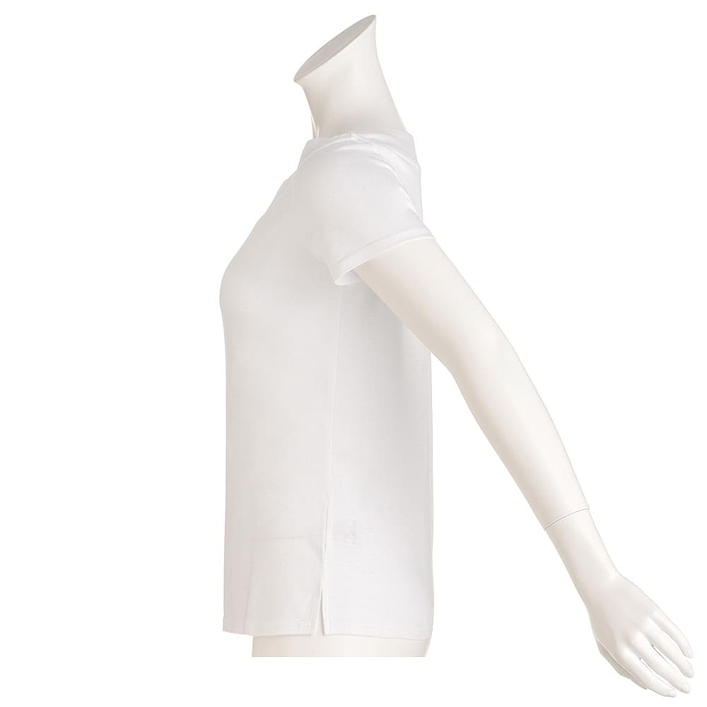新美デコルテ(R) 合わせV開き 半袖Tシャツ