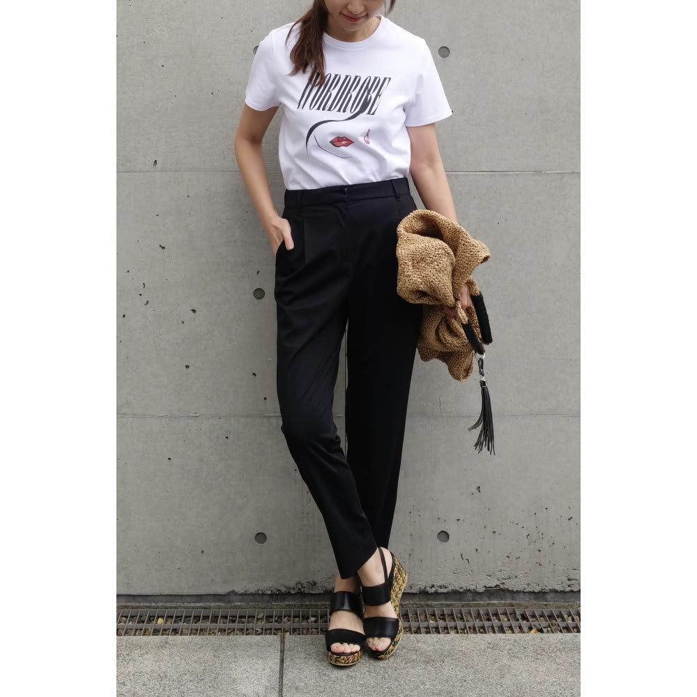 WORDROBE/ワードローブ プリントTシャツ  (ア)ホワイト(女性ロゴ) 着用例
