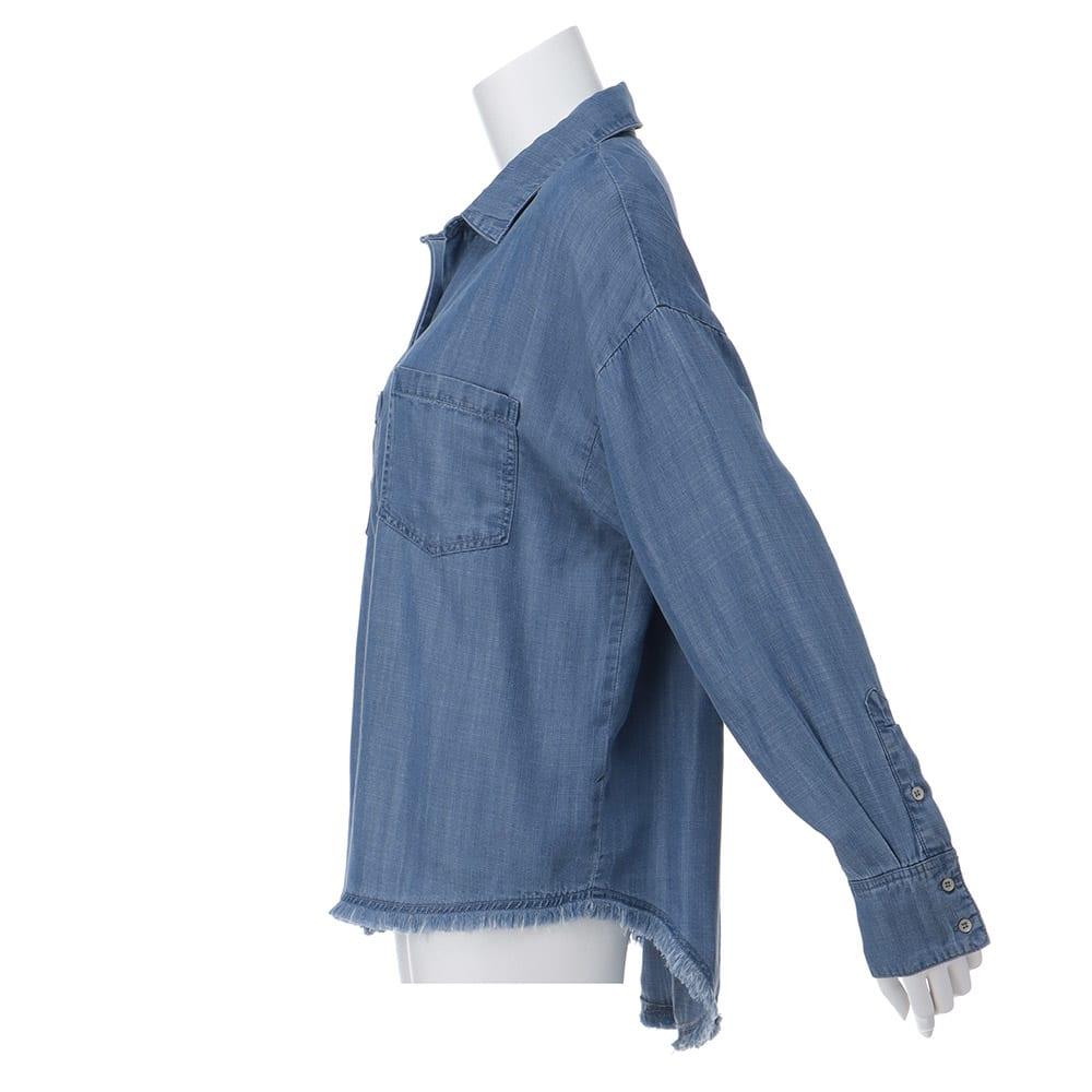gram blue/グラムブルー ルーズシルエットシャツ
