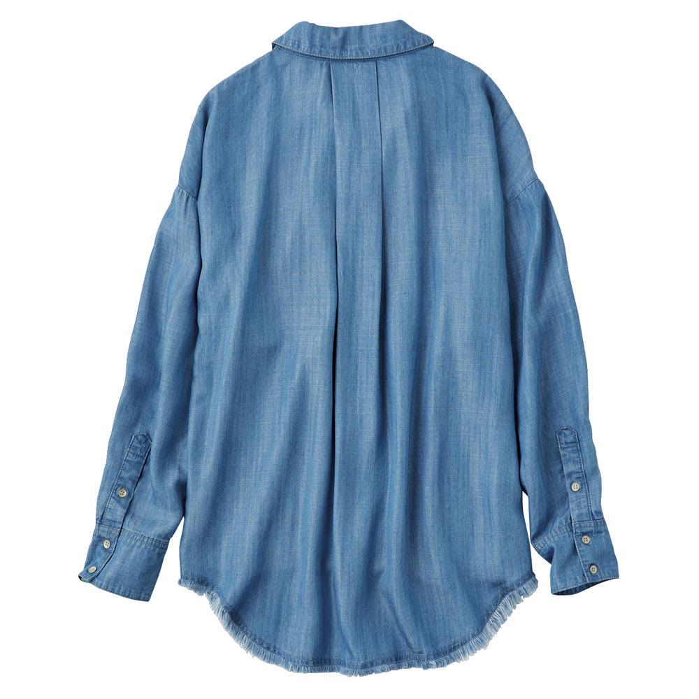 gram blue/グラムブルー ルーズシルエットシャツ Back Style