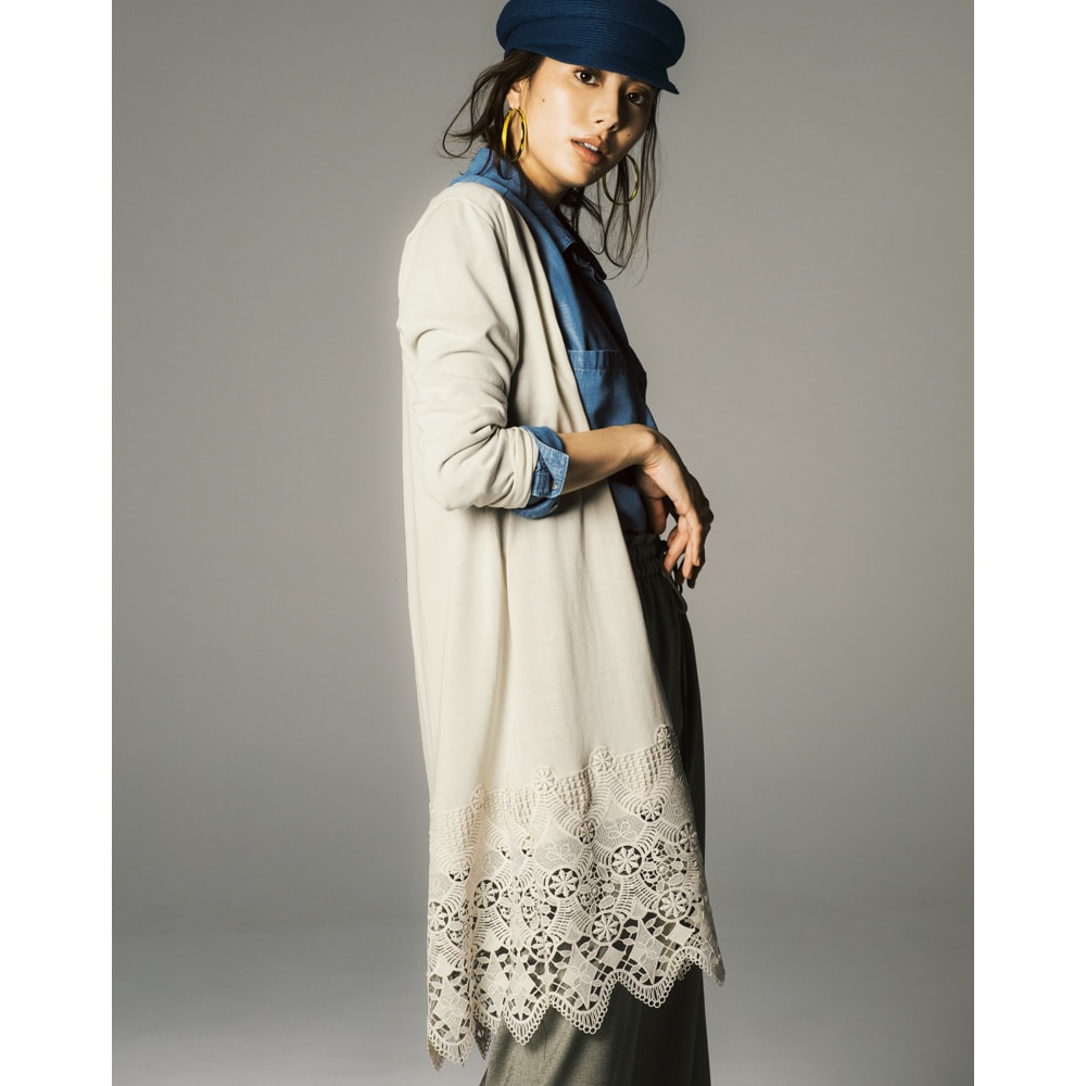 gram blue/グラムブルー ルーズシルエットシャツ コーディネート例