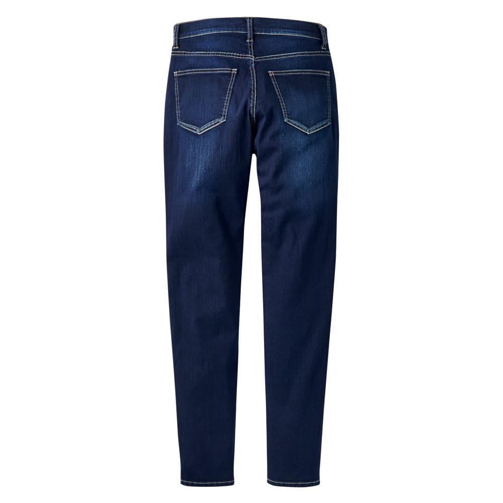 gram blue/グラムブルー ニューボーイフレンド 多機能デニムパンツ Back Style
