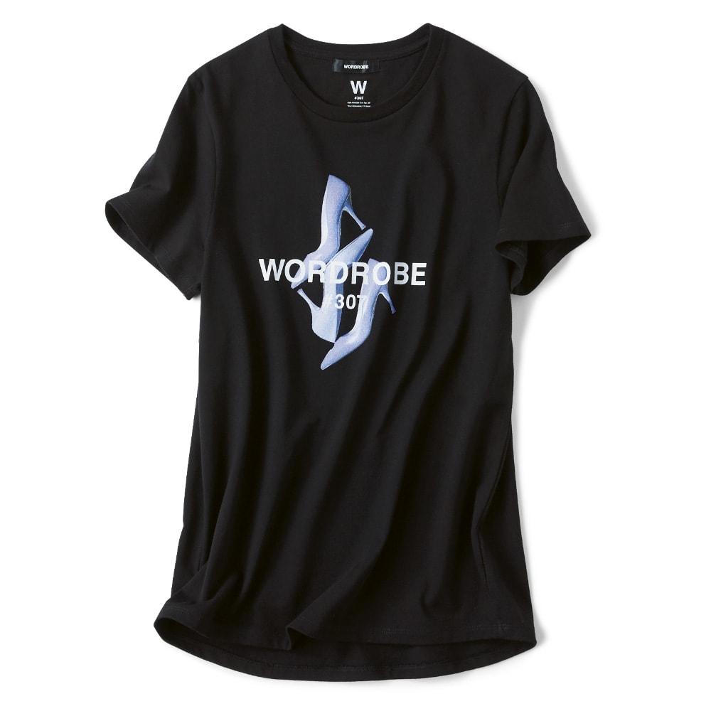 WORDROBE/ワードローブ プリントTシャツ (ク)ブラック(ハイヒール)(web限定色)