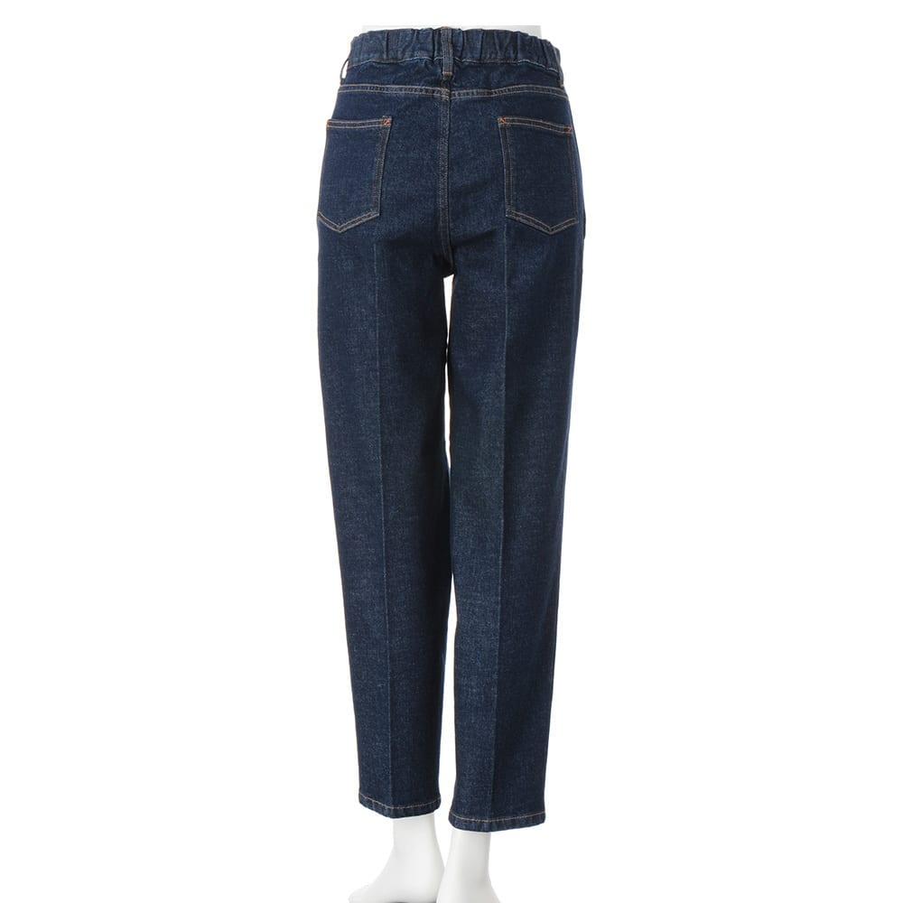 gram blue/グラムブルー センタープレス テーパードジーンズ