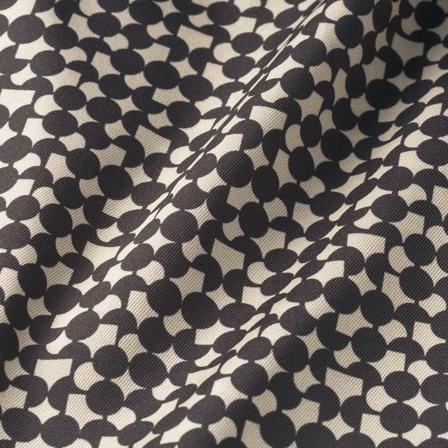 イタリア生地 配色幾何学柄ブラウス