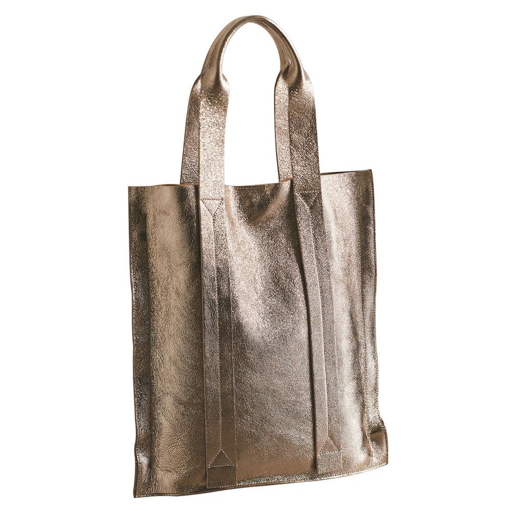 LAURA DI MAGGIO(R)/ラウラ ディ マッジオ 一枚革トートバッグ(イタリア製) (ア)ブロンズ