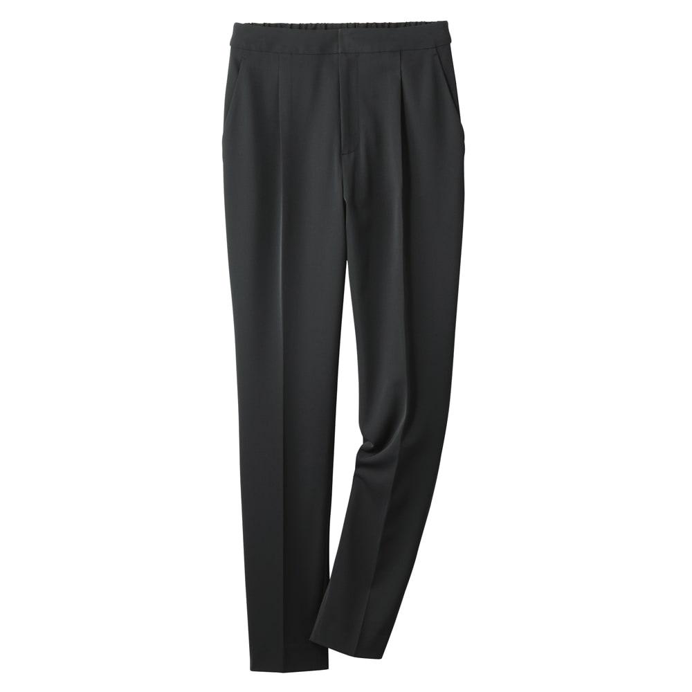 多機能素材シリーズ 9分丈腰高パンツ (イ)ブラック