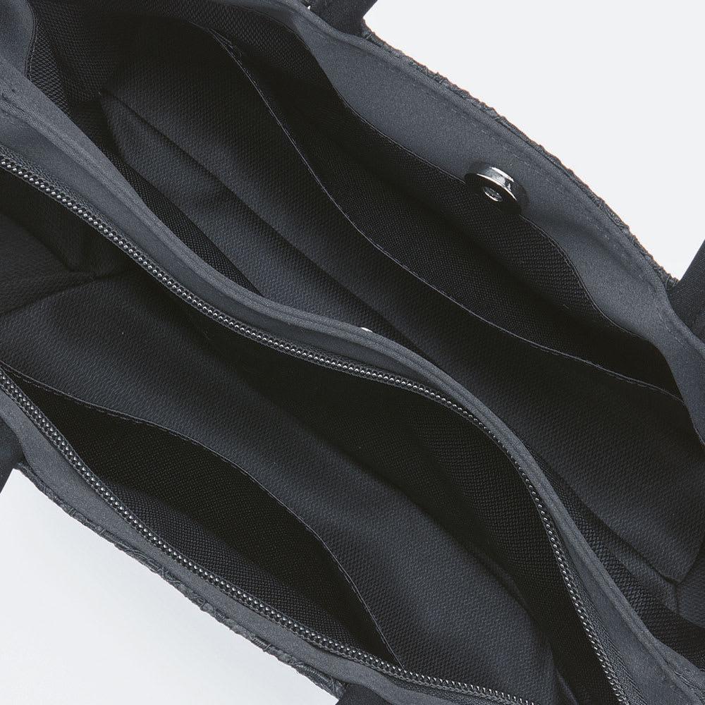 【ブラックフォーマル】 コードレース 二層式バッグ(日本製) Inside