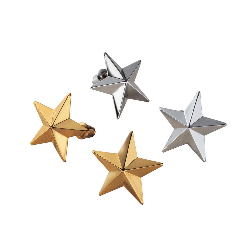 nico design/ニコデザイン スターシリーズ イヤリング・ピアス 左から(イ)ゴールド系ピアス (エ)シルバー系ピアス