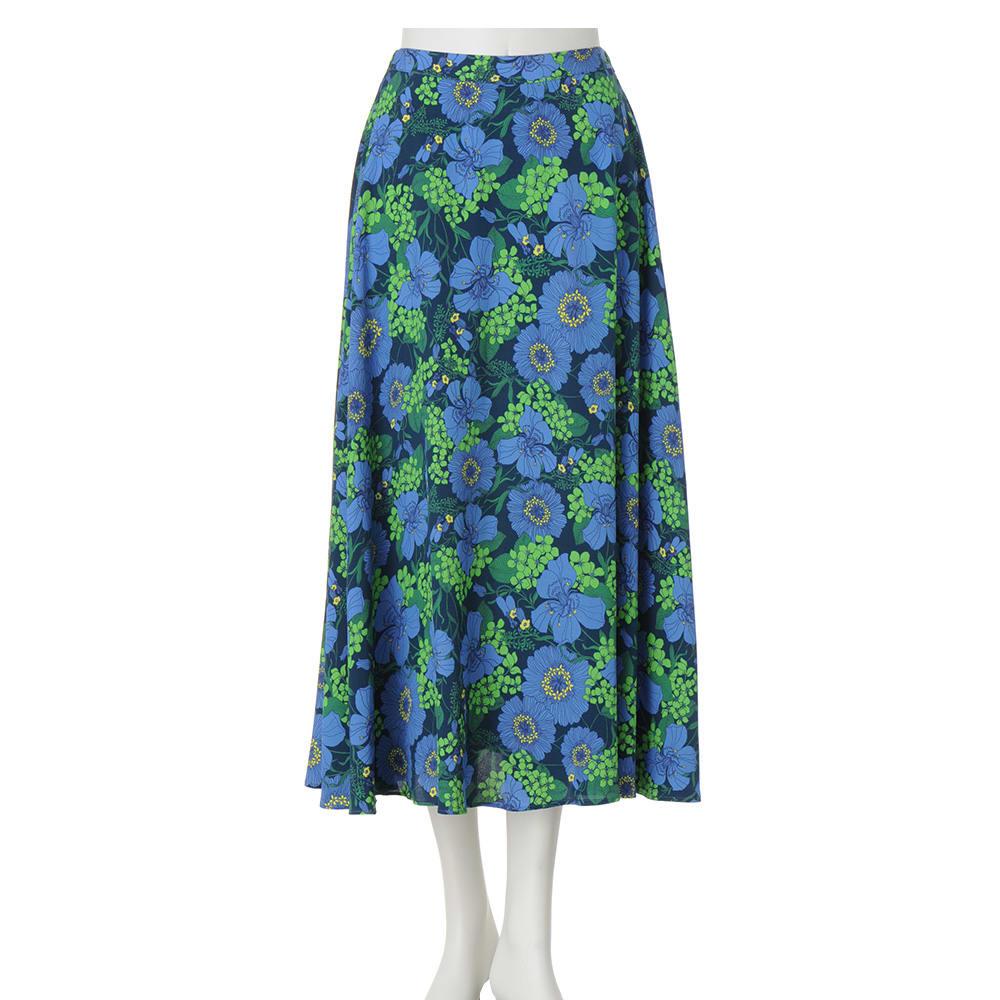 EMA BLUE'S/エマブルー 花柄フレアスカート(フランス製)