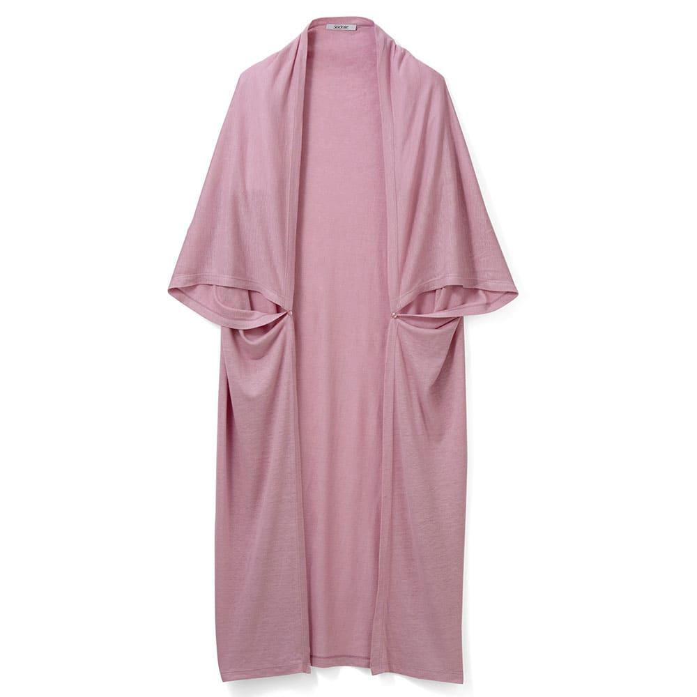 接触冷感・UVカット リネン混ジャージー マルチウェイトッパー (ア)ピンク