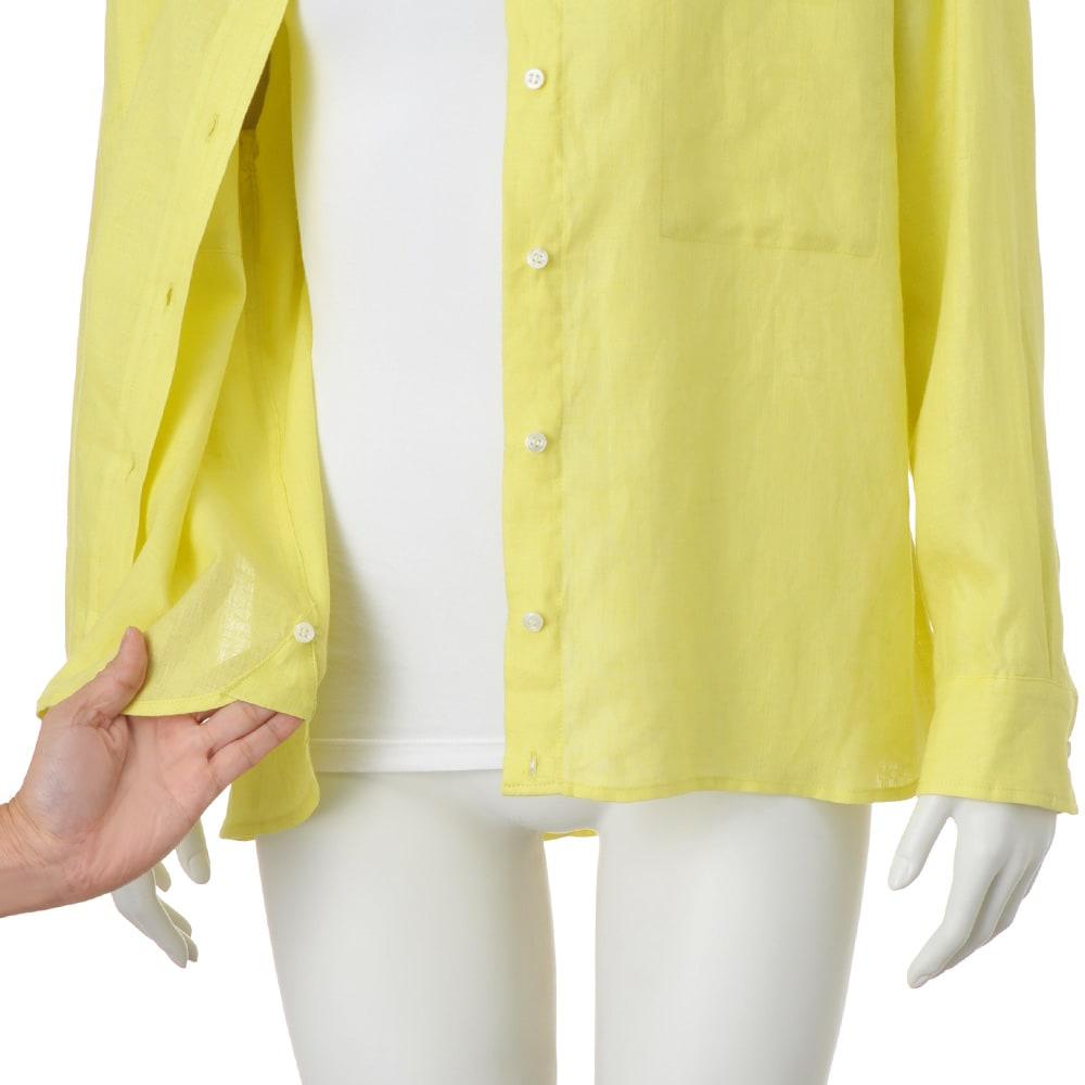 フレンチリネン 2ウェイシャツ