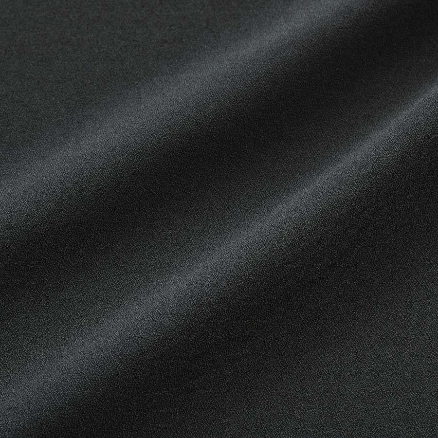 バックフリル ジョーゼットサックワンピース (イ)ブラック