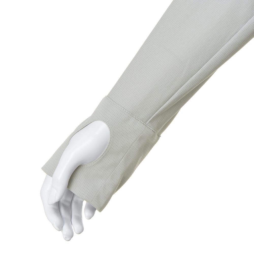 吸水速乾&UVカット ジャージーカーディガン 袖口に指穴有り
