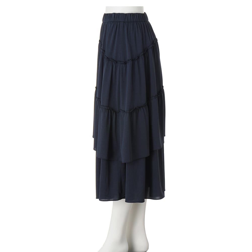 吸水速乾&UVカット 変形ティアードスカート