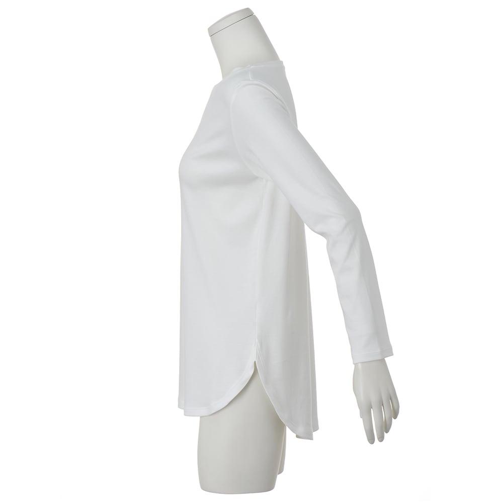 デオファクター(R) ふわもち綿スムース ロングTシャツ (ア)オフホワイト