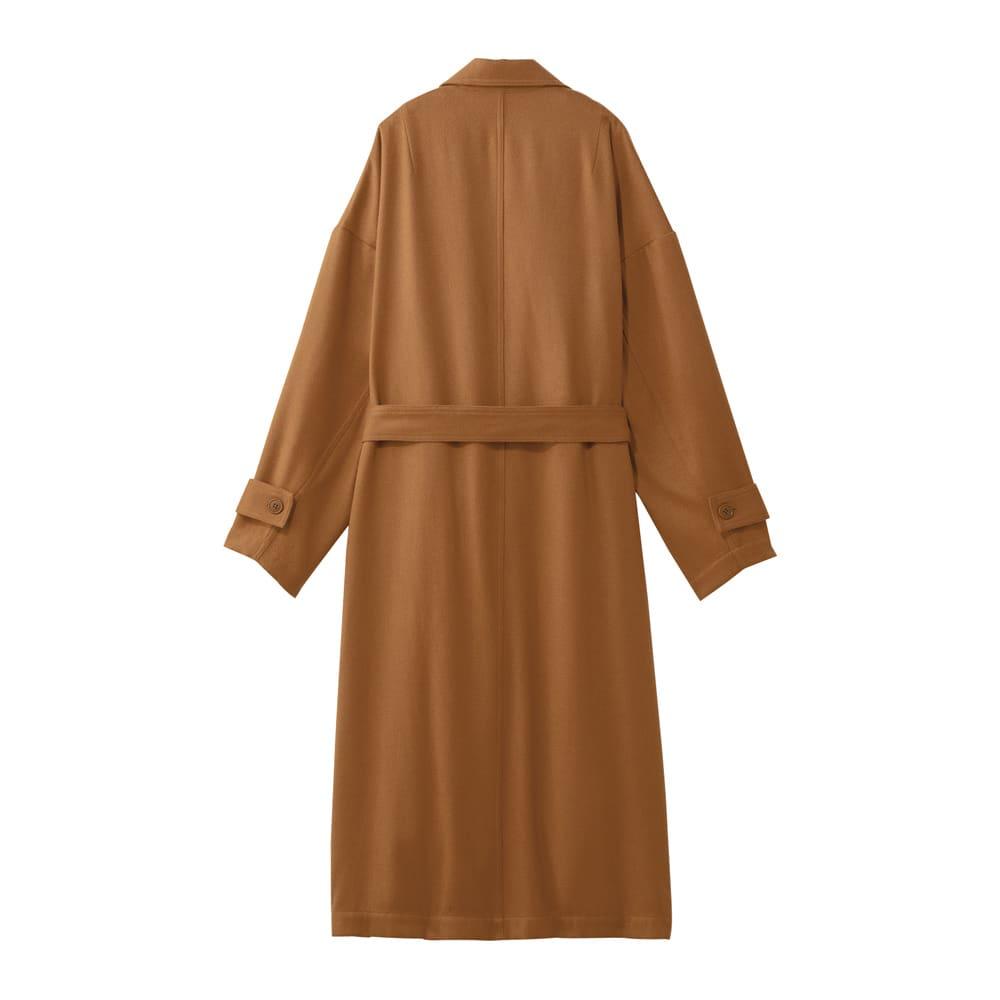 トレンチ風デザイン 着流し一重仕立てコート Back Style
