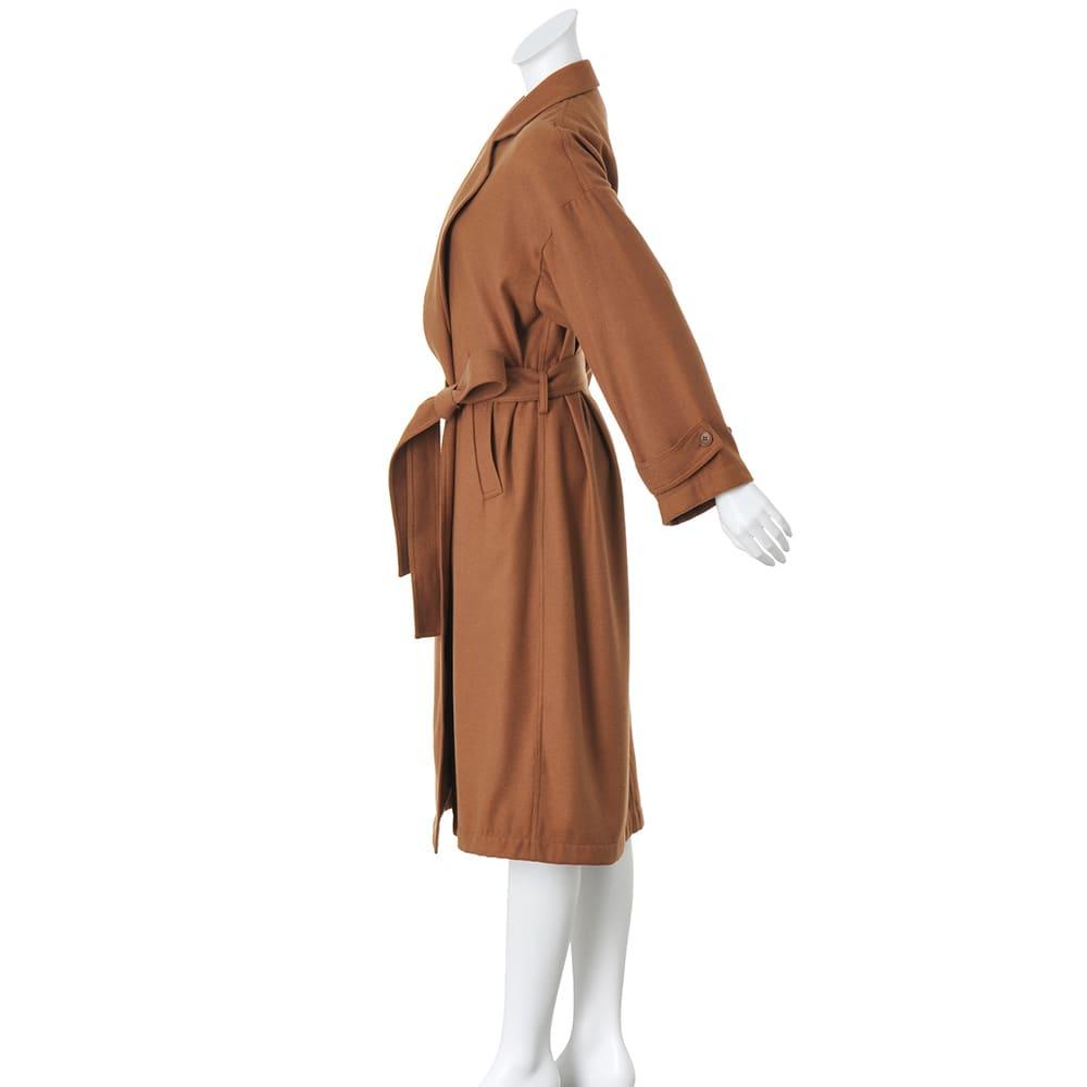トレンチ風デザイン 着流し一重仕立てコート