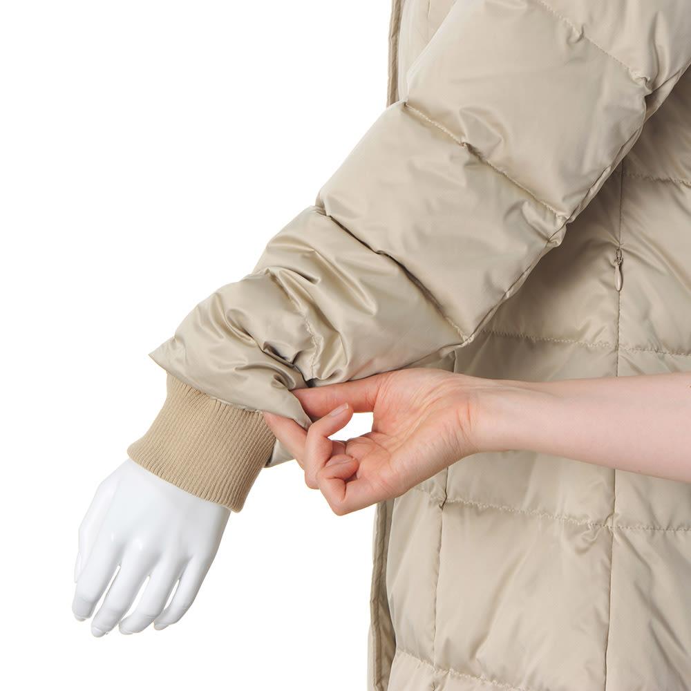 SPOOM/スプーム ビッグカラー ダウンコート 袖口内側リブ付き