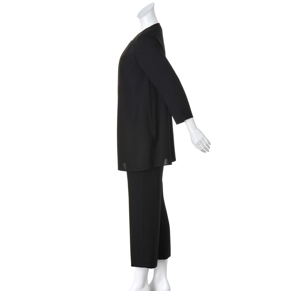 抗菌加工 洗える ストレッチ パンツスーツ