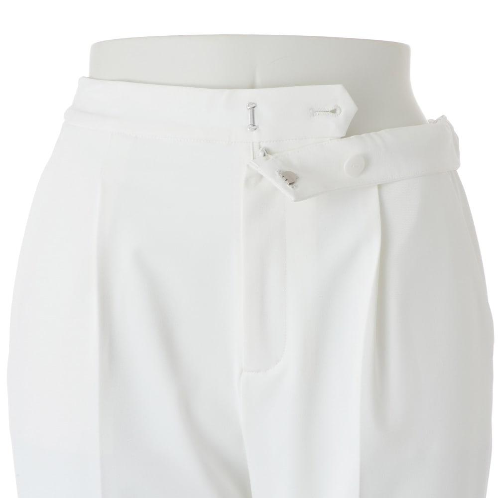 多機能素材 9分丈 腰高パンツ