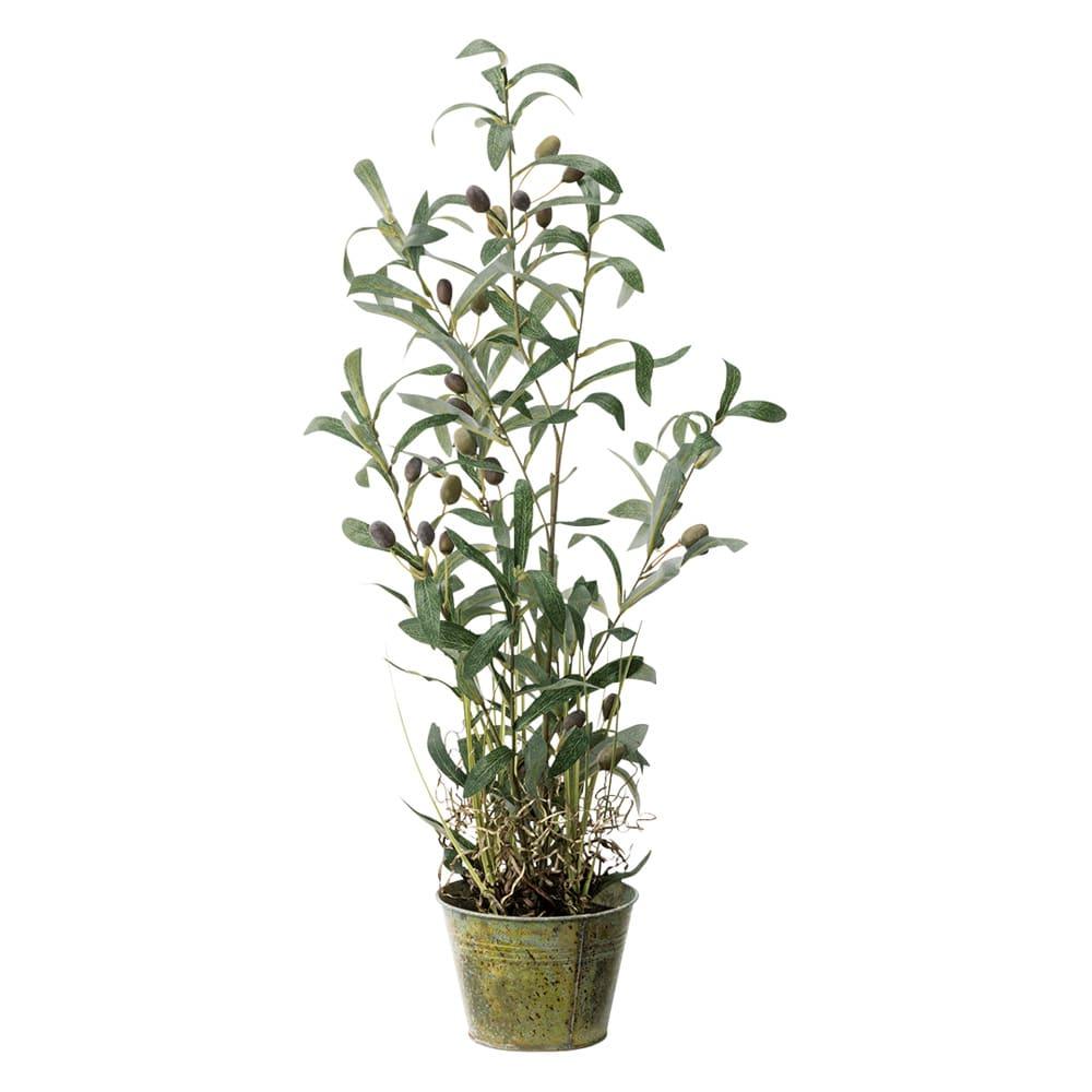 人工観葉植物オリーブ 高さ68cm 鉢カバーなし G53605