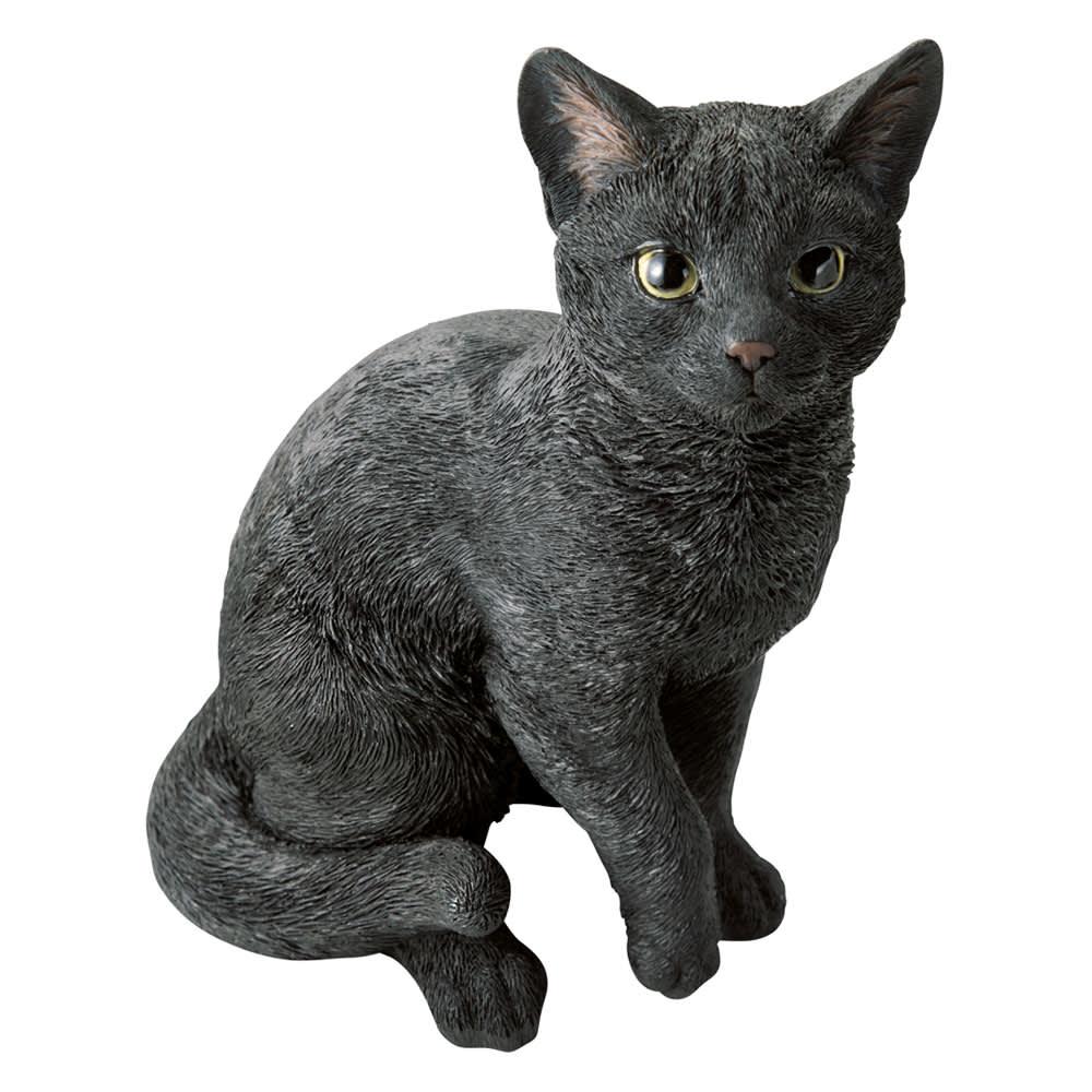 ネコのオーナメント 座りネコ (イ)黒